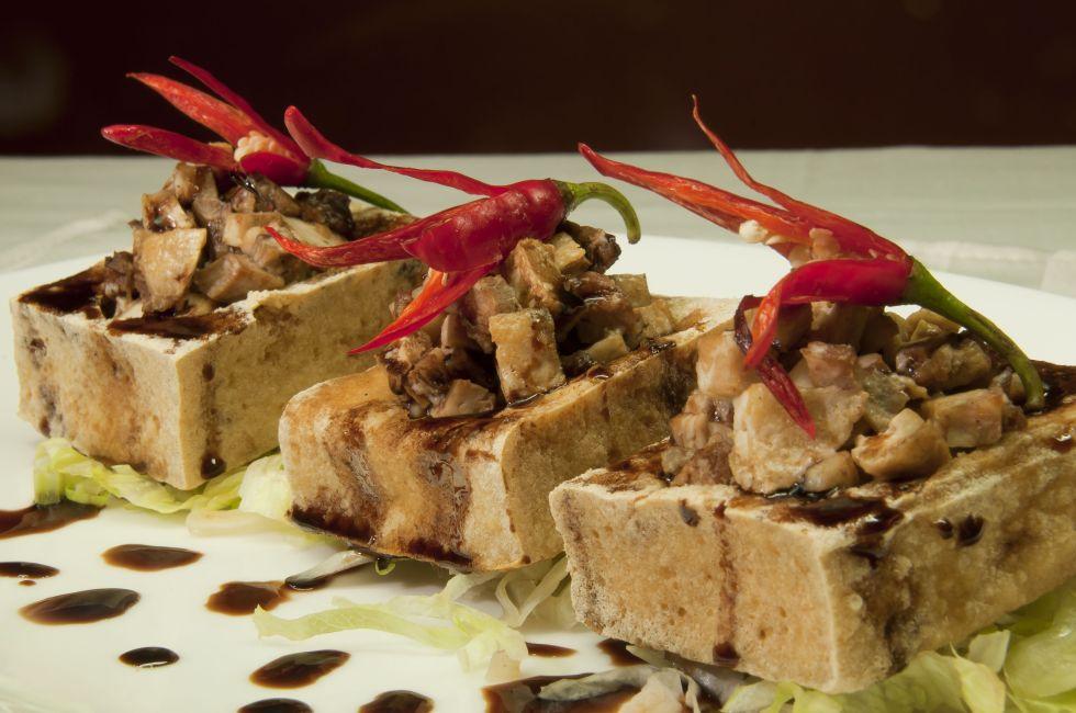Stuffed Tofu Square