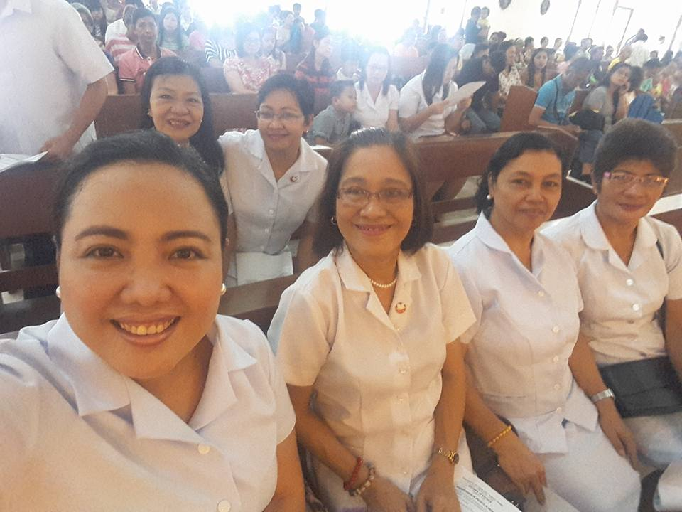 My mom (left) and I with other lectors and commentators